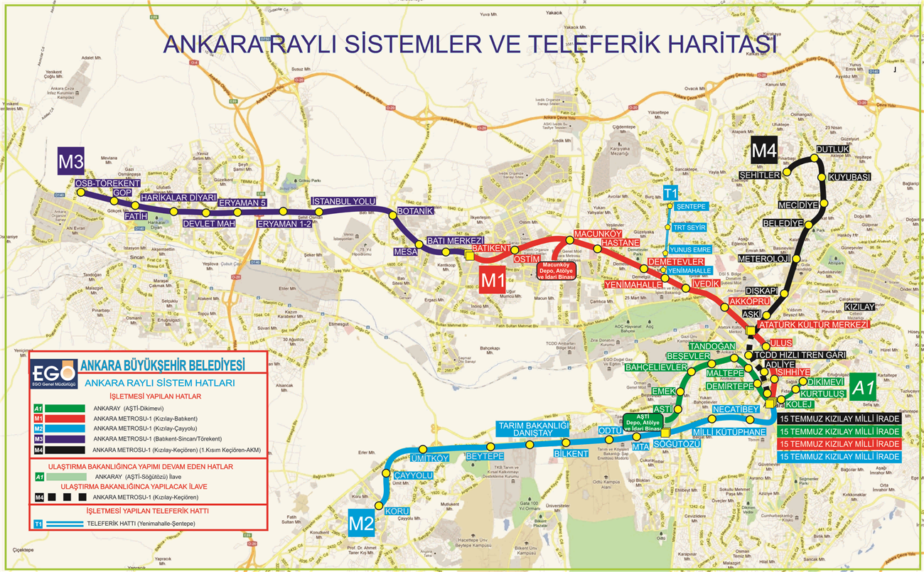 Ankara Lne Ral System Maps And Charts
