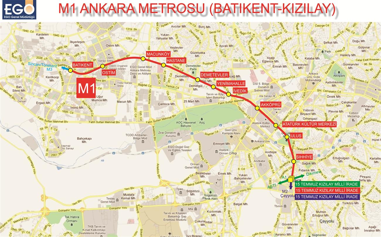 M1 The Ankara Metro 1 Kzlay Batkent