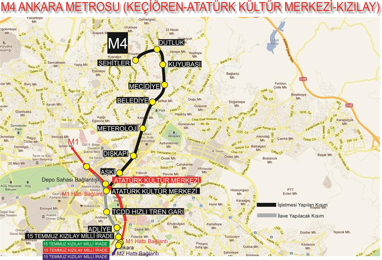 AKM - Keçiören Metro Hattı ile ilgili görsel sonucu