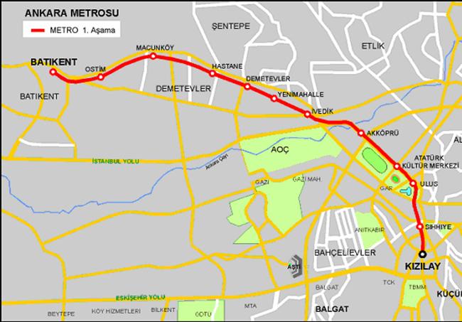 Kızılay-Batıkent Metro Hattı ile ilgili görsel sonucu