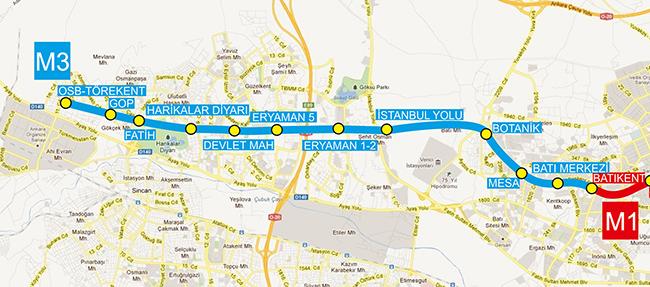 Batıkent-OSB Törekent Metro Hattı ile ilgili görsel sonucu